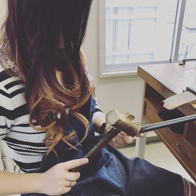 """せいちゃん on Instagram: """"なーちゃんと指輪の作り合いしたゾ✌️#ついぶ東京工房"""" (82303)"""