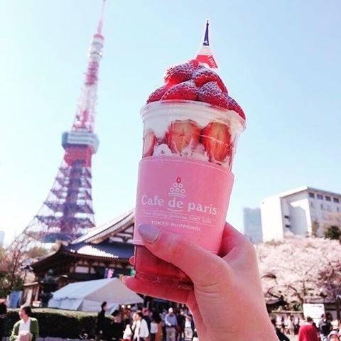 """Cafe de paris JAPAN  カフェ ド パリ on Instagram: """"カフェドパリメインビジュアルのストロベリーボンボン🍓は5/6までの限定。 残り3日❗️ぜひお越しください😊 . . ただ今、カフェドパリでは一緒に働いてくれる新規スタッフを募集中❗️詳細はバイトルで「カフェ  ド  パリ」で検索してくださいネ😊…"""" (83781)"""