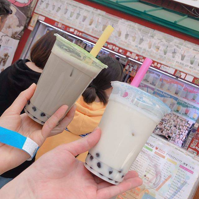 """chiro.S on Instagram: """"2019.04.20・ココナッツ豆乳ラテ ¥350・ほうじ茶ラテ ¥350#亜細亜坊 #大須グルメ #大須食べ歩き #大須タピオカ"""" (84803)"""