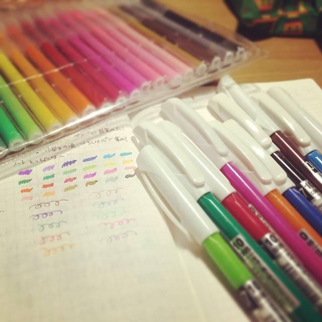 "Naoko Ii on Instagram: ""#ペン #ダイソー #キャンドゥー #ボールペン #水彩ペン #100均ペン #ほぼ日手帳ほぼ日手帳を使い始めて ペンに目覚めた!お金がないのでとりあえず100均で見たら24色入り!今の100均は何でもあるな〜^^;"" (86219)"
