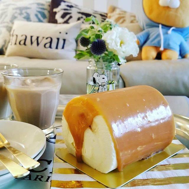 """TOSHIE in TOKYO WONDER LAND on Instagram: """"塩キャラメルロールケーキ😋  日本のテレビ番組で紹介されたのをハワイのアンティ秀子が見て、買ってみたい😃ってことで一緒に東京駅のARINCOに行ってみました〜♡ ちゃっかり買っていただいちゃって、はじめての塩キャラメルロールケーキ私もおいしくいただきました〜💕😋…"""" (87998)"""