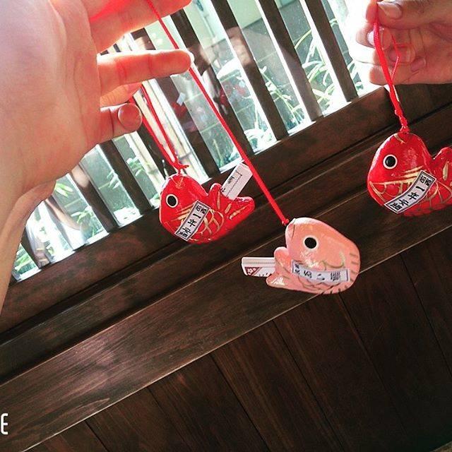 "Tamaki Asakura on Instagram: ""🐟・▽▽▽9月9日・・行ってみたかった川越の氷川神社で鯛みくじひいたー!・・結果は吉でした🤗・ #川越#氷川神社#鯛みくじ"" (89422)"