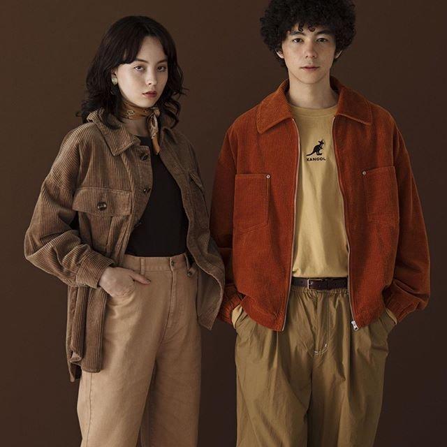 "WEGO on Instagram: ""men's>> ✔︎corduroy zip jacket ¥4,999+tax ✔︎long sleeve t-shirt(KANGOL) ¥2,999+tax ✔︎stitch buggy pants ¥3,999+tax ladies>> ✔︎corduroy CPO…"" (90982)"