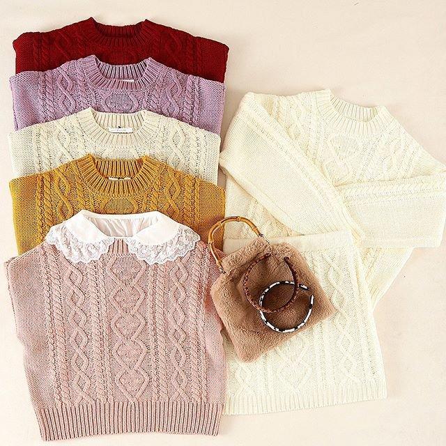 """WEGO公式通販 on Instagram: """". 🧡🐏NEW ARRIVAL🐏🧡 ✔️ケーブルセーター ¥2,519 定番のケーブルセーターは秋冬の必需品✨  カラー豊富な6色展開🥀 . #wego #ウィゴー #ウィゴーオンラインストア #大人スタイル #ガーリー #ニット #knit #きょコ #今日のコーデ #…"""" (92235)"""