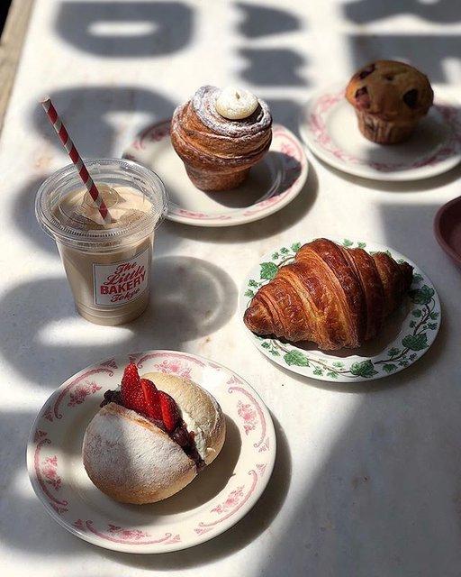 "The Little BAKERY Tokyo on Instagram: ""・Today is tea time biyori 🌈#thelittlebakerytokyo #bakedgoods #croissant#harajuku#bakery"" (95256)"