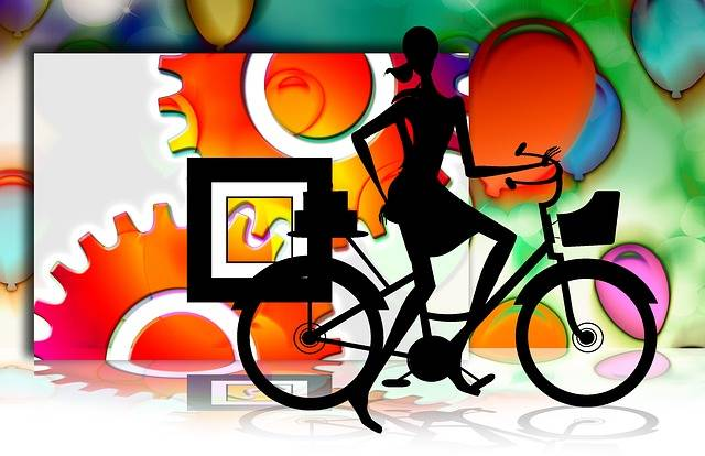 Free illustration: Woman, Silhouette, Bike, Gears - Free Image on Pixabay - 73089 (45700)