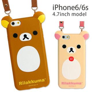 リラックマ iPhone6s/6対応ダイカットソフトジ...