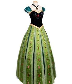 大ヒット映画『アナと雪の女王』のアナのコスプレ衣装ドレス。