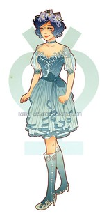 Art Nouveau Sailor Scouts Redesigns  Postcard by NeverBirdDesigns (2596)
