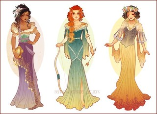 Etsy の Postcards of Art Nouveau Princesses by NeverBirdDesigns (2612)
