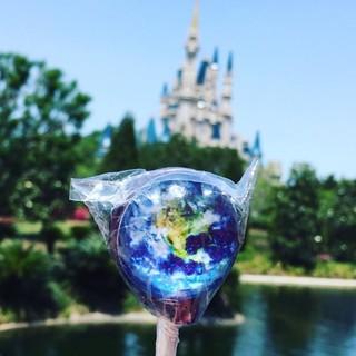 【惑星キャンディ】Planet Lollipop EARTH(Cotton Candy) / ヴィレヴァン通販 (3939)