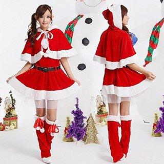 Amazon | サンタ 猫耳 レディース コスプレ スカート フリーサイズ | コスプレ・仮装 通販 (4324)