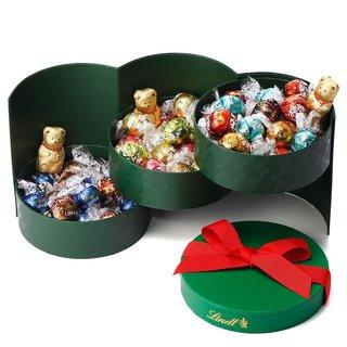 リンツ Lindt チョコレート クリスマス リンドール パーティーギフトボックス 3段アソート64個入り (4528)