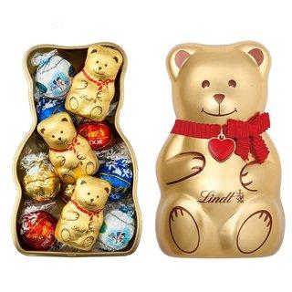 リンツ Lindt チョコレート クリスマス リンツテディ缶L  リンドール詰め合わせギフト (4529)