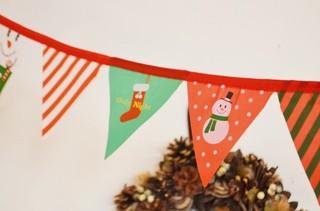【ファンファンフラッグクリスマス】クリスマス柄のフェス...