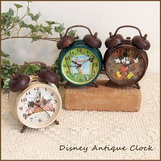 時計/アンティーク加工が施されたおしゃれなディズニー時...