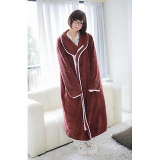 はだけない着る毛布(かわいい&ふわふわ)ブラウン M(~165cm) (7907)