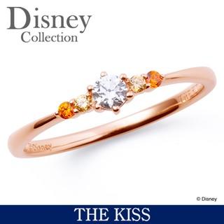 シンプルなデザインの中央に大きく光り輝く石は、キラキラ...