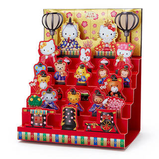 ハローキティ ライト&メロディひな祭り6段飾りカード