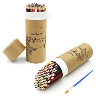 Amazon | DigHealth色鉛筆 水に溶け色鉛筆 72色鉛筆セット 子供と大人の塗り絵用 塗り絵 イラスト 水彩画色鉛筆セット | 色鉛筆 | 文房具・オフィス用品 (17163)