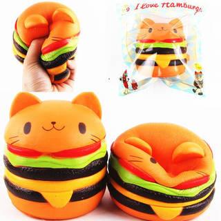 Squishys Cat Burger 猫ハンバーガースクイーズ (26285)