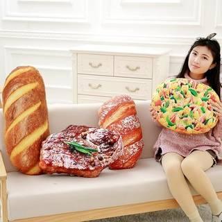 クリエイティブSimulationalぬいぐるみステーキピザ形状の枕ぬいぐるみナップクッション誕生日ギフト  Banggoodで (27048)