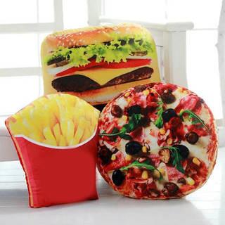 クリエイティブスクワッシュ3Dピザコーラポテトハンバーガーチップピローフードクッション誕生日ギフトトリックおもちゃ Banggoodで (27049)