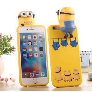iPhone7 ケース iPhone7 Plus ケース かわいい Minions 怪盗グルー ミニオン おもしろ プレゼント シリコン素材 スマートフォンケース (33391)