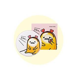HOLIKA HOLIKA ぐでたま LAZY&JOYシリーズ フェース2チェンジ フォトレディー クッション ケース+リフィルセット Face 2 Change Photo Ready Cushion BB ケース3タイプ ファンデーション クッションファンデーション 韓国コスメ (A. 私のモチモチ肌-21号) [並行輸入品] (33565)