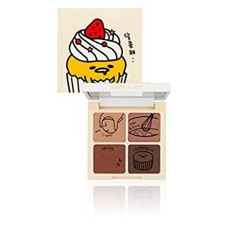 HOLIKA HOLIKA ぐでたま LAZY&JOYシリーズ カップケーキ アイシャドウ 2タイプ アイシャドウパレット Cupcake Eye Palette Shadow マット/シマー/グリッタータイプ アイメイク メイクアップ 韓国コスメ (33569)