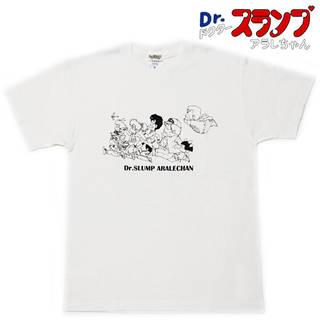 Dr.スランプ アラレちゃん 半袖Tシャツ オールスター ブラックライン (34316)