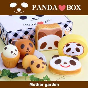 PANDA BOX🐼パンダいっぱいセット柔らかぱんだスクイーズ6個 専用BOX入り (44675)