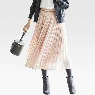 ユニクロ|ハイウエストシフォンプリーツスカート(丈標準76~80cm)|WOMEN(レディース)|公式オンラインストア(通販サイト) (55877)