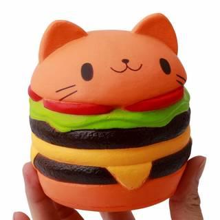 Flourishing 可愛ハンバーガー猫柄 押し出す...