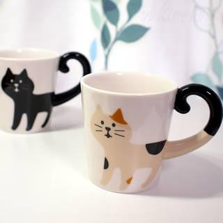 くるりん、猫のしっぽが可愛いマグカップ。デコレ(DEC...