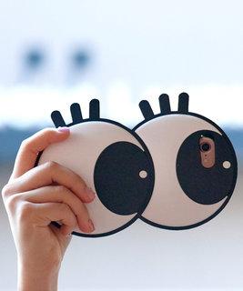 可愛いデザインのiphoneケース。首から下げるチ...