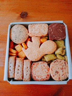 9種類のクッキーが詰まったクッキー缶。紅茶クッキー...