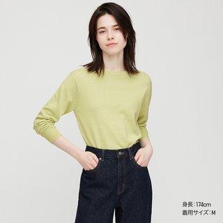 ユニクロのカシミヤのセーター。カシミヤなのにこの値...