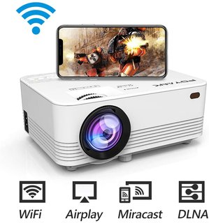 Amazon | POYANK データプロジェクター 4000lm WiFi接続可 スマホと直接に繋がり 交換ケーブル不要【3年保証】1080PフルHD対応 スピーカーが二つ内蔵 パソコン/スマホ/タブレット/PS3/PS4/DVDプレイヤーなど接続可 標準的なカメラ三脚に対応可 | POYANK | データプロジェクター 通販 (99970)