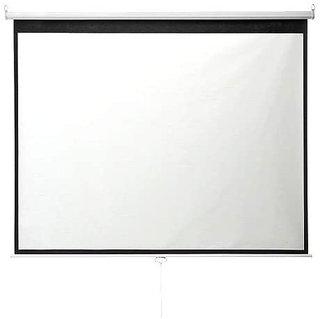 Amazon | イーサプライ プロジェクタースクリーン 100インチ 4:3 巻き上げ 吊り下げ 天吊り ロール式 壁掛け 大型 ホームシアター EEX-PST1-100 | イーサプライ | スクリーン (99972)