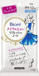 ビオレ メイクの上からリフレッシュシート 無香料 携帯用 12枚 (105411)