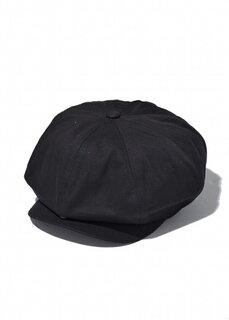 量産型服の定番、黒キャスケット。こちらはコットン素...