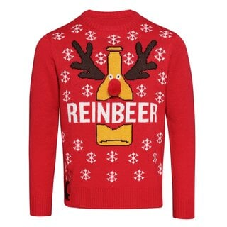 (クリスマスショップ) Christmas Shop  メンズ 裾に栓抜きつき トナカイ クリスマスセーター ニット  (109978)