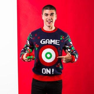 (クリスマスショップ) Christmas Shop メンズ Game On ボールダーツで遊べる クリスマスセーター ニット (109988)