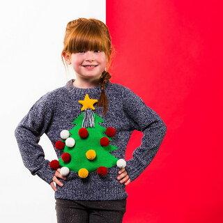(クリスマスショップ) Christmas Shop キッズ・子供用 3D 立体的 クリスマスセーター ニット (109990)