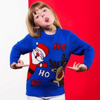 (クリスマスショップ) Christmas Shop キッズ・子供用 Ho Ho Ho クリスマスセーター ニット 男の子 (109992)