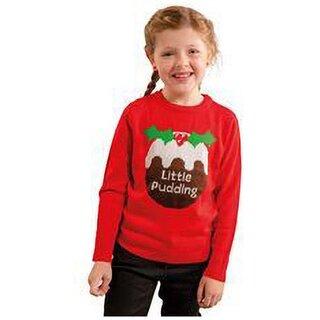 (クリスマスショップ) Christmas Shop キッズ・子供用  Little Pudding クリスマスセーター ニット (109994)