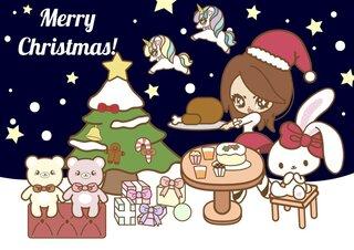 ★スクイーズ&バニーズカフェグッズ福袋★ クリスマスラッピング袋入り   Bunny's Cafe 可愛いおもちゃ屋さん (110093)