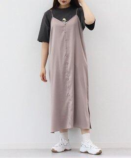 【レディーライクアイテム】サテンキャミワンピース(ワンピース)|kutir(クティール)のファッション通販 - ZOZOTOWN (110449)