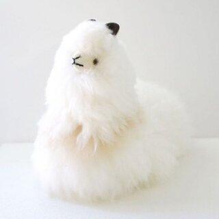 本物のアルパカの毛を贅沢に使ったふわふわのアルパカ人形...